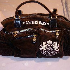 Women s Juicy Couture Velour Diaper Bag on Poshmark d96b2c310b